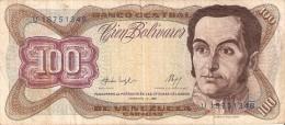 BILLETE DE VENEZUELA DE 100 BOLIVARES DEL AÑO 1987  (BANKNOTE) - Venezuela