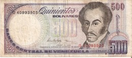 BILLETE DE VENEZUELA DE 500 BOLIVARES DEL AÑO 1995 (BANKNOTE) ORQUIDEA-ORCHID - Venezuela