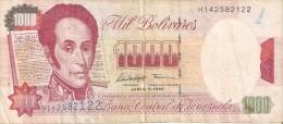 BILLETE DE VENEZUELA DE 1000 BOLIVARES DEL AÑO 1992 (BANKNOTE) - Venezuela