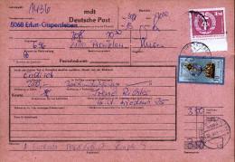 A3229) DDR Telegrafische Postanweisung Money Order Von Erfurt 30.08.1983 - DDR