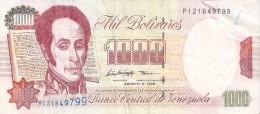 BILLETE DE VENEZUELA DE 1000 BOLIVARES DE AGOSTO DEL 1998 (BANKNOTE) - Venezuela