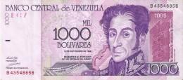 BILLETE DE VENEZUELA DE 1000 BOLIVARES DEL AÑO 1998 (BANKNOTE) - Venezuela