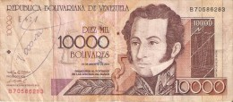BILLETE DE VENEZUELA DE 10000 BOLIVARES DEL AÑO 2001 (BANKNOTE) - Venezuela