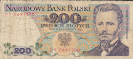 POLONIA, 200 ZLOTYCH.  1988 JAROSLAW DABROWSKI. CIRCULADO - Polonia