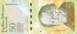 BILLETE DE VENEZUELA DE 50 BOLIVARES DEL 19 DE DICIEMBRE 2008 (BANKNOTE) OSO FRONTINO (BEAR) - Venezuela