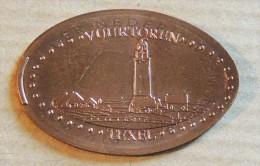Jeton Touristique -Pièce écrasée - Ile De Texel - Le Phare - 2015 - Pièces écrasées (Elongated Coins)