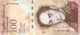BILLETE DE VENEZUELA DE 100 BOLIVARES DEL 3 DE FEBRERO 2011 (BANK NOTE) PAJARO-BIRD - Venezuela