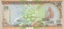 BILLETE DE MALDIVAS DE 10 RUFIYAA DEL AÑO 2006  SIN CIRCULAR-UNCIRCULATED - Islas Malvinas