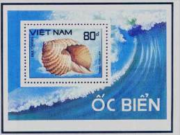 Vietnam Viet Nam MNH Perf Souvenir Sheet 1988 : Sea Shell (Ms558B) - Vietnam