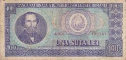 Billete De Rumania 100 Lei Año 1966 Circulado - Rumania