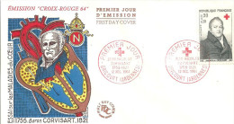 Croix Rouge   12 12 1964 Dricourt - FDC