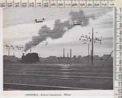 Milano Periferia Ferrovia Treni Treno 1951 R. Spampinato - Documentos Antiguos