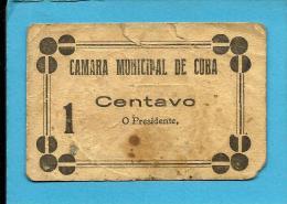 CUBA - CÉDULA De 1 CENTAVO - ND - Escassa - M. A. 798 Variante- SEM Chancela - PORTUGAL - EMERGENCY PAPER MONEY - NOTGEL - Portugal