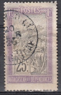 Madagascar Et Dependance, 1903 - 25c Transportation - Nr.92 Usato° - Madagascar (1960-...)