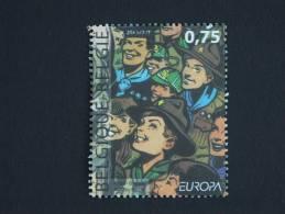België Belgique 2007 Europa 100 Jaar Ans Scouts Scoutisme Cob 3634 Yv 3617 Timbre Du Bloc Cob 142 Yv 119  MNH ** - Belgique
