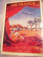 Affiche -AIR FRANCE-AFRIQUE DU NORD