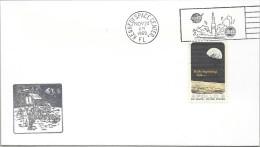 APOLLO 12 - LUNAR LANDING DAY CANCEL- OFFICIAL NASA-KSC CACHET - IN BLACK - SCARCE - Briefe U. Dokumente