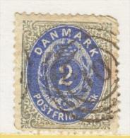 DENMARK  16     Perf.  14 X  13 1/2  (o)  1870-71  ISSUE - 1864-04 (Christian IX)