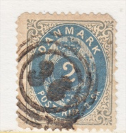 DENMARK  16     Perf.  14 X  13 1/2  Fault  Thin   (o)  1870-71  ISSUE - 1864-04 (Christian IX)