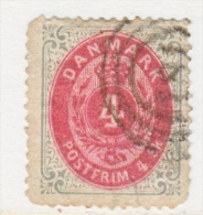 DENMARK  18     Perf.  14 X  13 1/2  ON THIN PAPER    (o)  1870-71  ISSUE - 1864-04 (Christian IX)