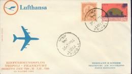 DV8-139 LIBIA 1964 FIRST FLIGHT COVER LH733 TRIPOLI - FRANKFURT. - Libië
