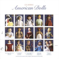US  -  Classic American Dolls  -  1997  -  15v  Sheet  -  MNH - Dolls
