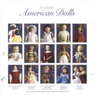 US  -  Classic American Dolls  -  1997  -  15v  Sheet  -  MNH - Puppen