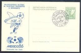 Football Fussball Soccer Calcio Yugoslavia 1986 Postal Stationery Card; WM World Cup Mexico - Fußball-Weltmeisterschaft