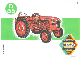 Buvard Neuf Tracteur RENAULT D35  Parfait - Agriculture
