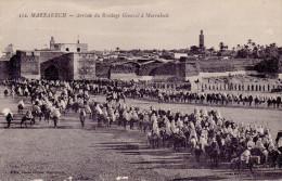 MARRAKECH - 2 Cpa Du Célèbre Photographe Félix -Jardins De L´Aguedal Et Arrivée Du Résident Général - 2 Scans - Marrakech