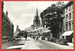 CARTOLINA VG REGNO UNITO - INGHILTERRA - Oxford - High Street - 10 X 15 - ANN. 1955 - Oxford