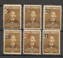 CUBA - Posta Aérienne - Air Mail  - Yvert # A 50/55 -  * MINT (Light Trace Of Hinge) - Airmail