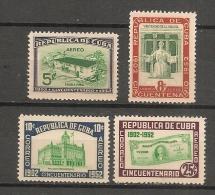 CUBA - Posta Aérienne - Air Mail  - Yvert # A 56/59 -  * MINT (Light Trace Of Hinge) - Airmail