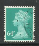 GB 1999 QE2 64p Turquoise Green Machin SG Y1733.. ( D739 ) - 1952-.... (Elisabeth II.)