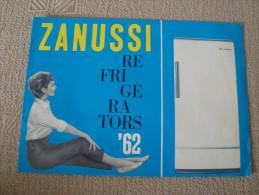 ZANUSSI Refrigerators Old 1962 Ad Brochure - Publicités