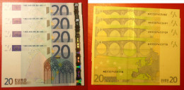 PORTOGALLO PORTUGAL 20 EURO 2002 TRICHET SERIE M 83307453709 U017C2 UNC FDS 3/4 CONSECUTIVE - EURO