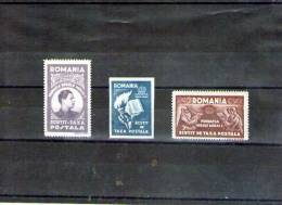 1947 Fondation Carol / Port Libre / Gris Du Papier   MICHEL= XIIaA-XIIcA  MNH - Portomarken
