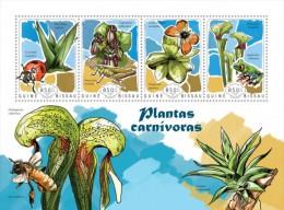 Z08 GB14609a GUINEA-BISSAU 2014 Carnivorous Plants MNH - Guinea-Bissau