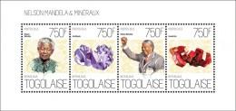 Z08 TG13617a TOGO 2013 Nelson Mandela And Minerals MNH - Togo (1960-...)