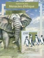 IMPERFORATED TG13311b TOGO 2013 Endangered Species MNH - Togo (1960-...)