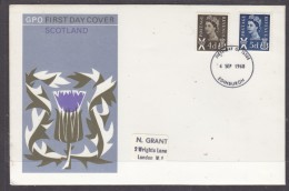 Scotland  New Definitives, 4d, 5d, 4th September 1968  First Day Cover - Local Issues