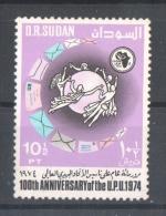53-027 // SUDAN  - 1974  100  YEARS UPU  Mi 315 ** - Sudan (1954-...)