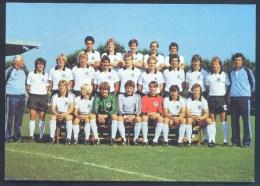 Football Fussball Soccer Calcio Germany Deutschland 1980 Card; EURO UEFA; Nationalmannschaft Europameister DFB Signed - UEFA European Championship