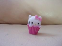Figurine Hello Kitty,Sanrio, BIP HOLLAND, Plastique, Panier, Noeud - Andere