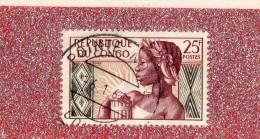 REP. DU  CONGO  --  ANNIVERSAIRE  DE LA  REPUBLIQUE  --  **  25 F. **  --  POSTE  1959  --  BEG - Congo - Brazzaville