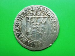 ELSASS Murbach Und Lüders Groschen (3 Kreuzer) 1596 Kardinal Andreas Von Österreich (1587-1600) - 476-1789 Lehnsperiode