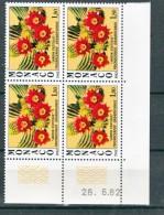 Monaco 1339 Plante Du Jardin Exotique  Bloc De 4 Coin Daté 26 6 1982 Neuf ** TB  MNH Sin Charnela  Cote 16.5 - Unused Stamps