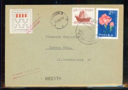 POLAND 1967 13TH NATIONAL GLIDING CHAMPIONSHIPS GLIDER FLOWN COVER CINDERELLA STAMP FLIGHT AIRPLANE AIRCRAFT - Airmail