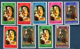 1969 CAYMAN   Natale Christmas    Serie Cpl Nuova ** MNH - Cayman (Isole)