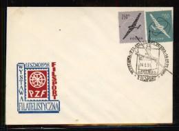 POLAND 1958 FILSPORT PHILATELIC EXPO GLIDER COMM COVER FLIGHT AIRCRAFT - Airmail